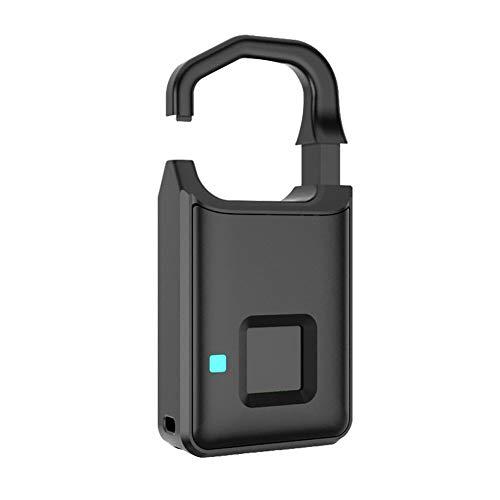 iBelly Fingerabdruck Schloss Smart Lock Fingerprint Vorhängeschloss Diebstahlsicheres Keyless Wasserdichte, USB-Aufladung für Golftaschen, Schulschließfächer, Garderoben, Fahrräder