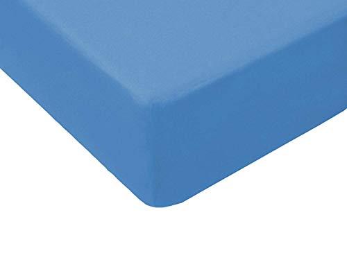 Qualität Baby Kinder Jersey Spannbettlaken 60x120,70x140 ,70x160,80x160, 80x180,80x200,90x160-mit Öko-Tex Standart (80x180cm, hellblau 009)