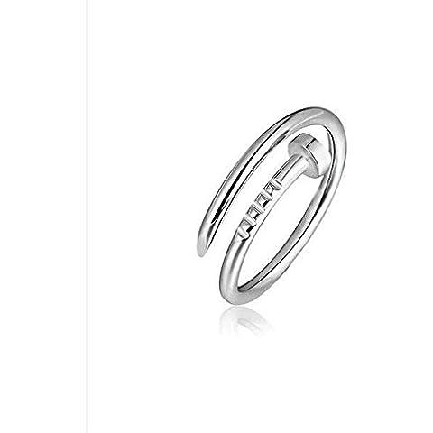 Y&XL&H Chiodo Anello vite anelli donna anelli gioielli in argento sterling s925