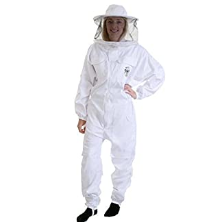 Beekeeping bee suit - MEDIUM with round hat and twin hoop veil 16