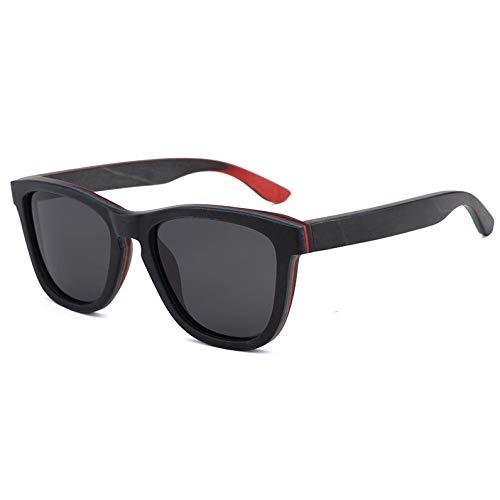 Lxc UV400 Grau Sonnenbrille Männer Und Frauen Skateboard Holz Holz Polarisierte Sonnenbrille Handgefertigt Zeige Temperament
