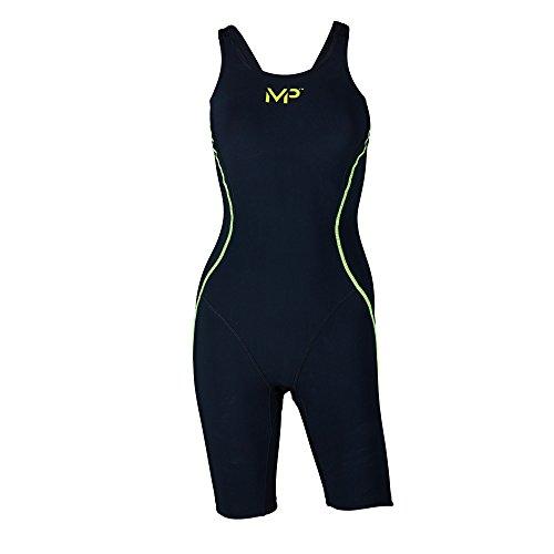 Kostüm Mädchen Aqua - Aqua Sphere Michael Phelps mPulse Damen Mädchen Schwimmen Training Kostüm, Schwarz/Gelb, Waist 62-65cm / Height 168cm
