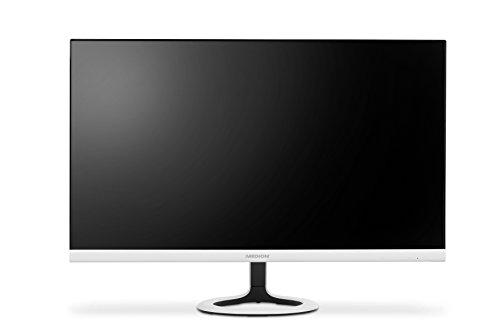 Medion Akoya P57581 - Monitor con retroiluminación LED de 68.6 cm (27', diseño sin marco, Full HD, HDMI, 300 cd/m², 16:9), color blanco
