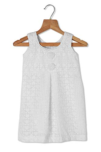 Urban Vogue Baby Frock White Cotton Frock (022) (12-18 Months)