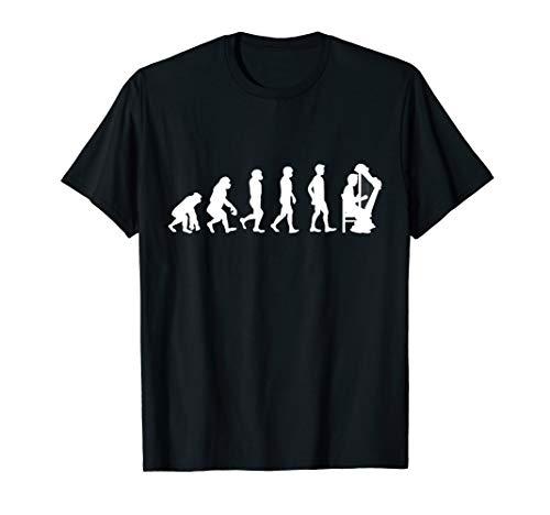 Evolution Harfe T-Shirt Geschenk Harfenspieler Lehrer Harfe