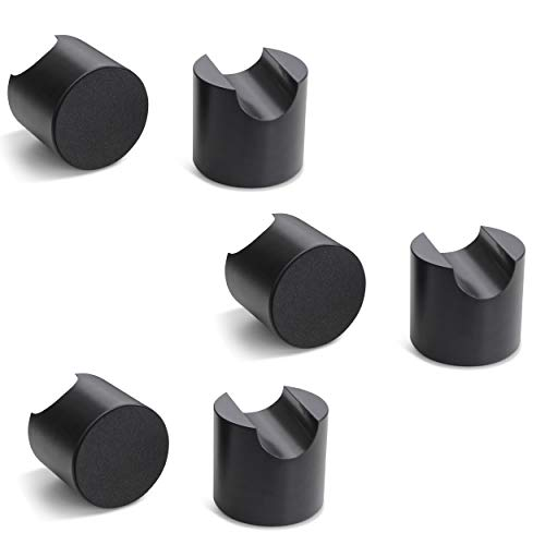 bFly-audio Tower-Set Kabel Absorber/Dämpfer aus POM (6er-Set, Schwarz) -