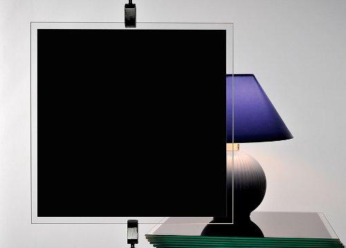 Gardine, blickdicht, schwarz, Displayschutzfolie und Sichtfenster, 100 cm x 150 cm