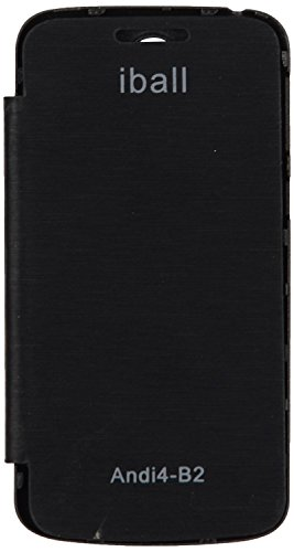 iCandy™ Synthetic Leather Flip Cover For iBall Andi 4 B2 - BLACK  available at amazon for Rs.170