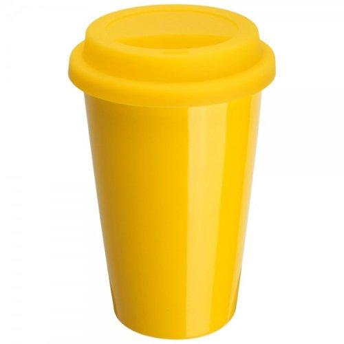 Mug porcelaine isotherme jaune