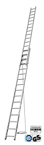 KRAUSE  lald527Schiebeleiter Pro Strang mit 2x 16Trittstufe, 5.4M/8.65m Höhe Leiter, 4.5m/7.85M Länge