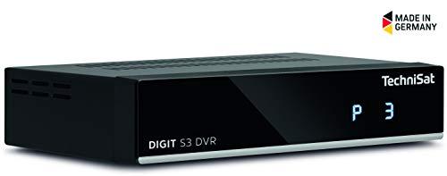 festplattenresiver TechniSat DIGIT S3 DVR HD Sat-Receiver mit Single-Tuner für Empfang in HD mit PVR-Aufnahmefunktion, Timeshift, schwarz