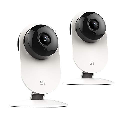 YI Überwachungskamera WLAN IP Kamera 720P Überwachungs Nachtsicht Bewegungsmelder 2-Wege-Audio für Home Innen Baby Haustier Monitor mit iOS Android App YI Cloud Service(2 Stück 720 P) (Galaxy Ii Handy-fällen)