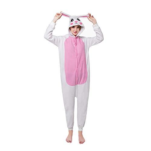 l Kigurumi Halloween Kostüm Jumpsuit Erwachsene Pyjama Tieroutfit Schlafanzug Tier Onesies Sleepsuit Mit Kapuze,4,M ()