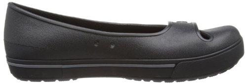 crocs - Crocband 2.5 Flat, Ballerine da Donna Nero (Schwarz (Black/Charcoal))