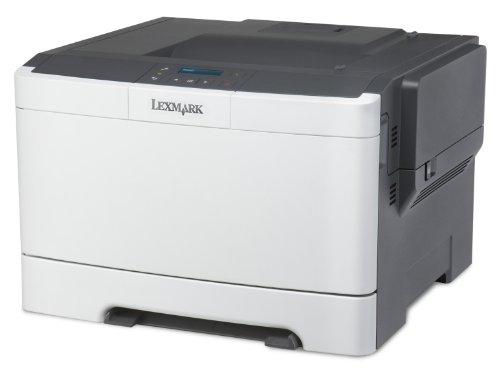 Lexmark CS310N Farblaserdrucker (1200 dpi, USB 2.0) graphit/weiß