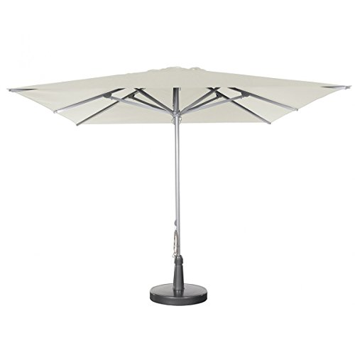 Parasol - Patio Carré 3x3m O'Bravia 300g/m2 Naturel + Pied pour Patio