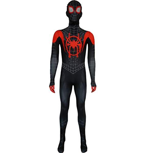XIAOKEAI Kind, Erwachsener KostüM Spiderman Paralleluniversum Neue ÄRa Kleine Schwarze Spinne Anime Strumpfhosen Cosplay KostüM FüR Erwachsene
