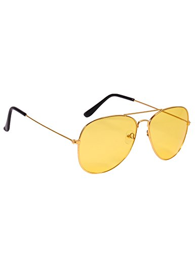 Beyove UV Protected Stylish Aviator Wayfarer Sunglasses for Men and Women (Yellow_Style_1)