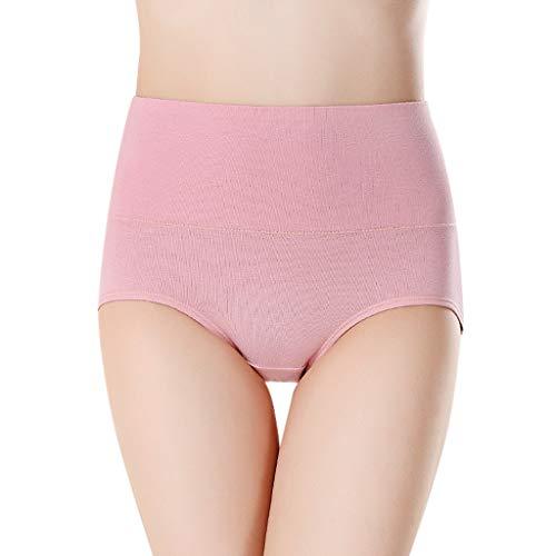 POPLY Damen Unterwäsche Panties Unterhosen Hohe Taille Einfarbig Grundlegende Stil Tummy Control Cotton Briefs Höschen Hipsters Underwear