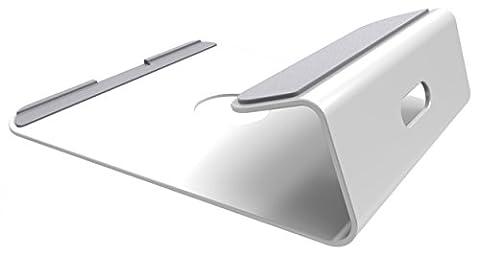 RICOO Laptop Ständer Stand Laptopständer MTS-01 Notebook Halter Podest Erhöhung für DJ Mischpult mit Laptop Kühler an optimalen Punkten für Macbook / für Laptops 11 12 13 15 16 Zoll / Kabelführung Rutschfest