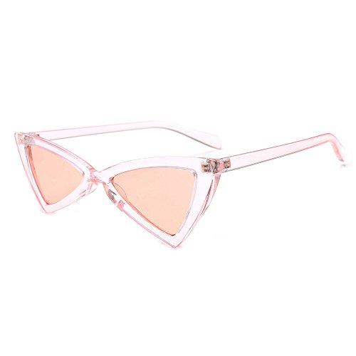 Whycat Retro Sonnenbrille Herren Verspiegelt Clout Brille Vintage Cat Eye Sonnenbrille Mod Stil Retro Kurt Cobain Brille, Triangle Lite(G)