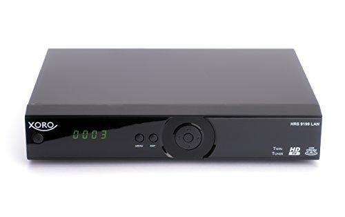 Xoro HRS 9199 LAN Digitaler HDTV TWIN Satelliten-Receiver (HDMI, USB 2.0, SCART, PVR Ready, Timeshift, Mediaplayer, DLNA, Livestream) schwarz