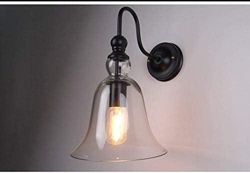 Fuweiencore lampada da parete con paralume in vetro scala letto luci