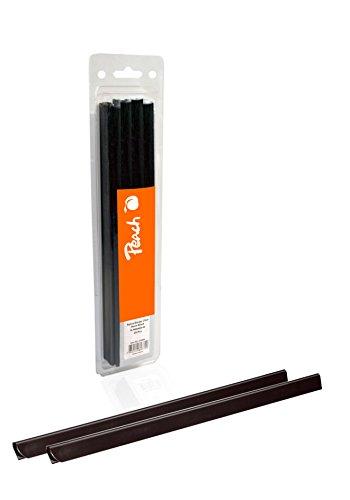 Peach R-PBS408-02 Klemmschienen DIN A4, 8 mm, 40 Blatt, 25 Stück, schwarz
