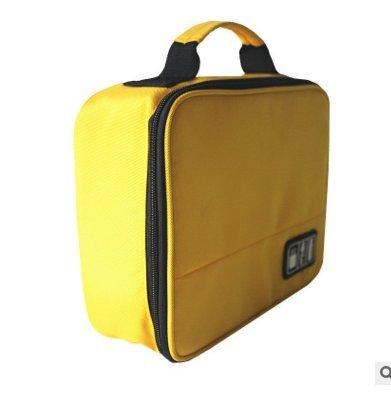 Wuudi Tragbare Elektronik-Zubehörtasche Organizer Digital Zubehör Outdoor Reise Elektronisches Zubehör Aufbewahrungstasche (gelb)
