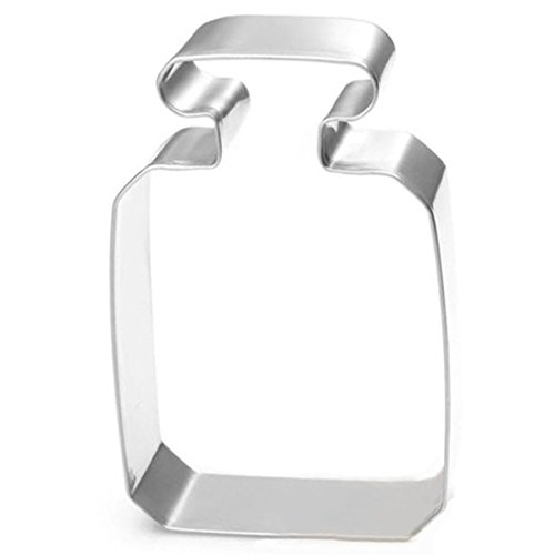 wdyjmall Parfüm Flasche Cookie Cutter Edelstahl Kuchen Form Backen Biscuit Form Cookie-cutter-brownies