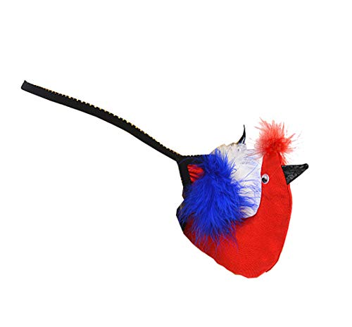 Lidoso FBA Herren-Kostüm mit türkischem Vogel-Muster, G-String, Unterwäsche - Rot - Einheitsgröße