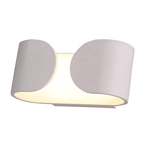 Lightess Moderne 6w LED Wandleuchte Innen wand leuchtet auf Wandlichter Wandlampe, Indoor Nacht Licht helle wand beleuchtung dekorative Beleuchtung Wohn und Schlafzimmer Korridor Hotel, warmes Weiß -