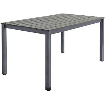 Gartentisch Tisch Alu mit Holzplatte B-Ware Vorführer