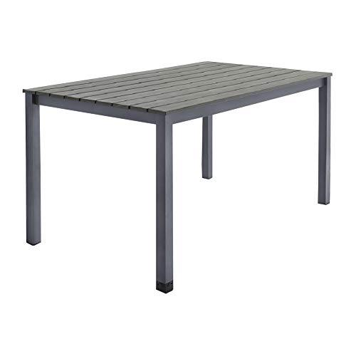 Alu Gartentisch Esstisch Tisch Wohntisch 150 x 90 cm B-Ware 2.Wahl (Anthrazit)