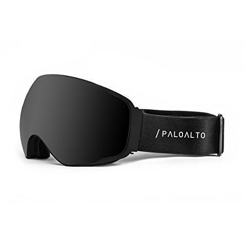 Paloalto Sunglasses Shasta Brille Ski Polarisiert Unisex Erwachsene, schwarz/Rauch