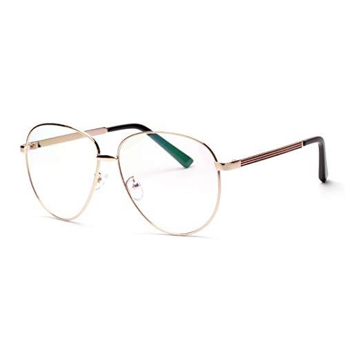 WULE-RYP Polarisierte Sonnenbrille mit UV-Schutz Metall-Frosch-Brillengestell, Anti-Blue-Light-Coating-Objektiv für Frauen und Männer. Superleichtes Rahmen-Fischen, das Golf fährt (Farbe : Gold)