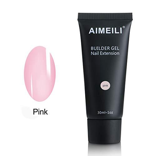 AIMEILI Gel Nagel Verlängerung Rosa 30ml Soak Off UV LED Nail Extension Builder Gel -