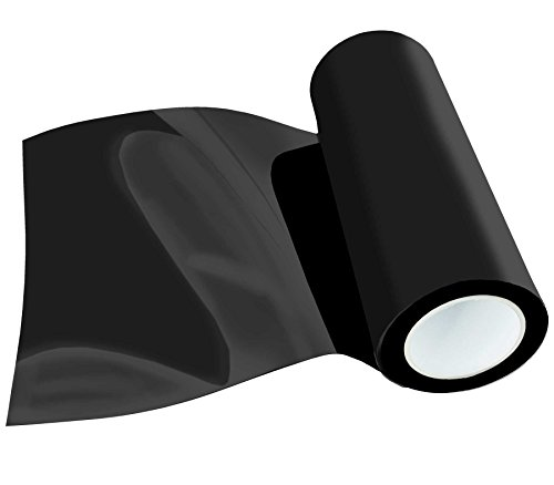 (29,80 EUR/m²) Poli-Flex Premium Flexfolie Meterware 30,5cm 41 Farben Textil-Bügelfolie, Farbe:Schwarz