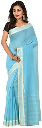 TANTUJA BENGAL HANDLOOM Women's Woven Cotton Saree(011H8N0233/NT49_B