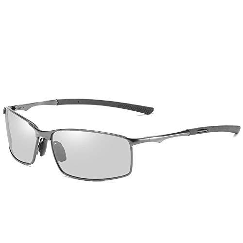 @Y.T Polarisierte Sonnenbrille Herren Sonnenbrille Farbwechselbrille Nachtsichtbrille,F