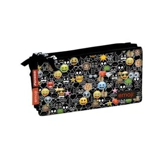 Emoji- Estuche, Color Negro (Smiley 78207)