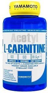 Yamamoto Nutrition Acetyl L-CARNITINE 1000mg integratore alimentare a base di Acetil L-Carnitina 60 capsule