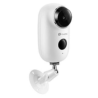 Houzetek Überwachungskamera Wlan mit Bewegungsmelder 720P 2,4Ghz Kabellos IP Kamera Outdoor Netzwerkkamera App Kontrolle für Außen Home Baby Monitor