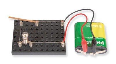 Preisvergleich Produktbild matches21 Einfacher Stromkreis Strom Energie entdecken Bausatz f. Kinder Werkset Bastelset Lernspiel ab 9 Jahren