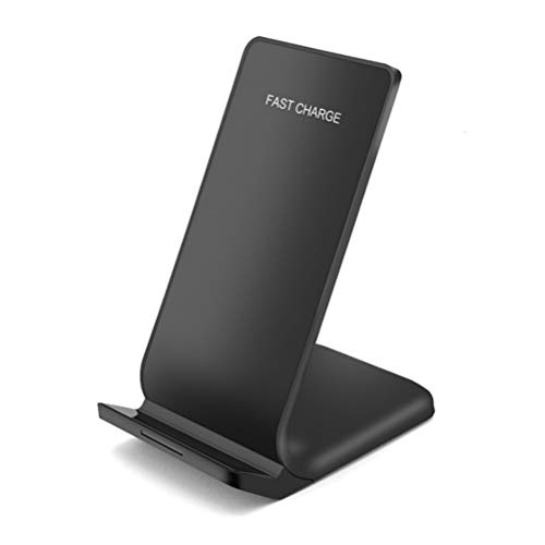 QIH Wireless Charger, Qi-zertifiziertes Drahtloses Ladegerät mit 7,5 W, kompatibel mit iPhone XS MAX/XR / XS/X / 8/8 Plus, 10W Fast Wireless Charger Stand für Galaxy Note 9/8/5 S9 / S9 + / S8 / S8 +