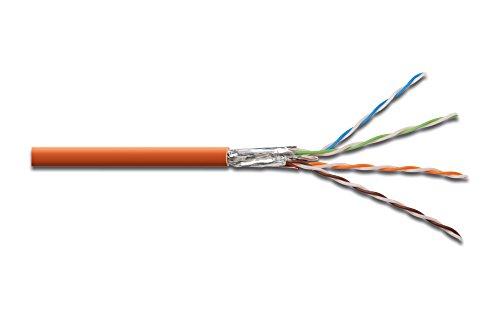 DIGITUS Professional CAT 7 S-FTP Roh-Installationskabel – 1000 m - Simplex – Patch-Kabel geschirmt zum Verlegen als Meterware in Orange – LSZH-3