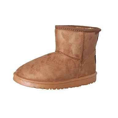 Rtry Chaussures Nubuck Automne Cuir Femmes Hiver Fluff Doublure Confort Nouvelles Bottes De Neige Bottes Talon Plat Bout Rond Bottillons / Cheville Us8 / Eu39 / Uk6 / Cn39