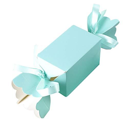 JYCRA Geschenkboxen, 50 Stück Süßigkeiten-Form-Verpackungspapier, Schokoladenschachtel, Aufbewahrungsbehälter für Süßigkeiten, für Weihnachten, Geburtstage, Urlaub, Hochzeiten, Papier, blau, 50pack