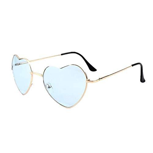 SHIYID Frauen-Metallmehrfarbenmetallrahmen-Sonnenbrille- Beschichtungs-Mode-Sonnenbrille-Herz-Geformte Sonnenbrille