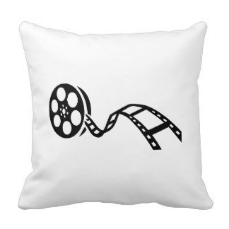NicholasArt Decorative 18 X 18 Inch Linen Cloth Pillow Cover Cushion Case Movie Film Reel